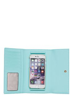leather iphone 6 wallet, atoll blue