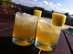 Pineapple Daly Summer Cocktail.