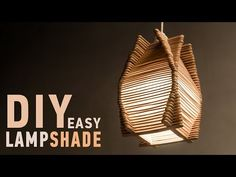 Easy DIY Ideas for Homedecor: Making Craft Stick Lampshade. Today I'm sharing a super fun and easy DIY Ideas for this easy Lampshade or Lanterns. you can make this Craft Stick Lampshade and decorate your home. And what is even better is that you can Handmade Lanterns, Handmade Lamps, Diy Popsicle Stick Crafts, Popsicle Sticks, Ice Cream Stick Craft, Pop Stick Craft, Diwali Lantern, Diys, Lantern Craft