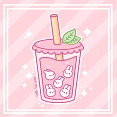 "faithvarvara-art: "" I thought I'd do a little Boba Bunny bubble tea to go along with the bunny's tea shop I made a little while back💕 "" Cute Food Drawings, Cute Animal Drawings Kawaii, Easy Drawings, Griffonnages Kawaii, Arte Do Kawaii, Kawaii Illustration, Japon Illustration, Kawaii Doodles, Cute Doodles"