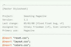 Using White Space For Readability In HTML And CSS