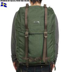 เป้ทหาร Sweden military framed backpack - วินเทจ สภาพดี สวยเท่ งามๆ ครับ