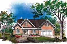 Cottage Style 1 story 3 bedrooms(s) House Plan with 1377 total square feet and 2 Full Bathroom(s) from Dream Home Source House Plans