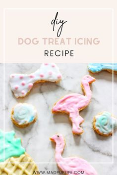 Making dog treats look pretty starts with a dog-friendly icing. I've always seen the boutique styled dog stores sell the cutest treats and wondered how they achieved such a consistent formula. And while I may not have it exactly right, I found an easy way for anyone to make colorful icing for their dog treats! Dog Treat Icing Recipe, Easy Dog Treat Recipes, Diy Dog Treats, Homemade Dog Treats, Dog Store, How To Make Diy, Treat Yourself, Dog Friends, How To Look Pretty