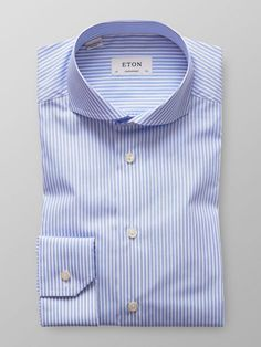 Blue Bold Striped Poplin Shirt