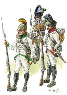 Granatieri e fucilieri della linea austriaci