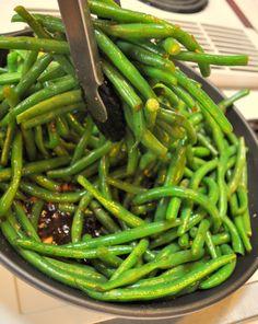 Not Chris's favorite. Balsamic green beans
