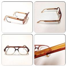 Daniel Hechter vintage eyewear. Rare frame with double temples.