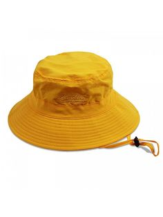 66b5c6217a2 Women s Packable Fisherman Bucket Hat Outdoor Hat With Chin Strap - Sun  Protective - Yellow - C5182AKUHM4