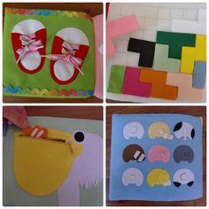 フェルトの仕掛け絵本 型紙完成 | shido-ricoのほほん子育て♪ハンドメイド日記 Quiet Book Patterns, Busy Book, Little Gifts, Baby Gifts, Diy And Crafts, Kids Rugs, Crafty, Projects, Handmade