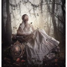 Dark fairytale art, Dark Fairy tale print, Dark fantasy print, Twisted... ($8) ❤ liked on Polyvore featuring home, home decor and wall art