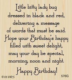 Ladybug Birthday Greeting - DRS Designs