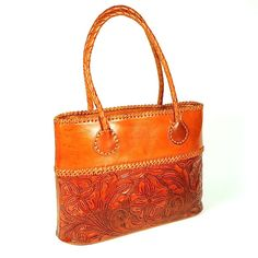 Hand Carved Apricot Large Handbag by Yeo Designs