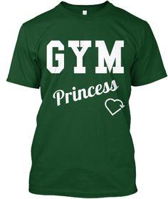 Gym Princess Deep Forest T-Shirt Front