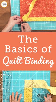 Finishing a quilt with binding isn't a difficult thing to learn. Check out these quilt binding basics from National Quilters Circle Quilting For Beginners, Sewing Projects For Beginners, Quilting Tips, Quilting Tutorials, Machine Quilting, Quilting Projects, Sewing Tutorials, Sewing Lessons, Sewing Hacks