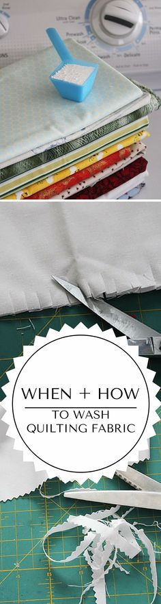 How to wash quilting fabric