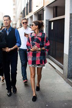 Giovanna Battaglia -editora de L'Uomo Vogue, estilista freelance y fashion editor de la revista W- lució un mix de estampas sublime..