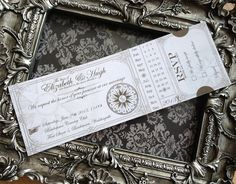 Custom Printable Steampunk Wedding Invitation Ticket 8.75 x 3 inch digital collage sheet VD0422 by VectoriaDesigns on Etsy https://www.etsy.com/listing/150317310/custom-printable-steampunk-wedding