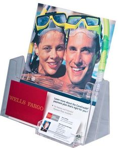 """25 Pack - Clear Acrylic Brochure Holder Holds 8-1/2""""w X 11""""h Literature & Business Cards by BrochureHolders4U, http://www.amazon.com/dp/B003AKAMIW/ref=cm_sw_r_pi_dp_GXEeqb18TR7Q6"""