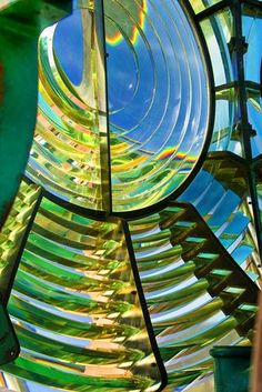 Fresnel lens of the lighthouse at Clark's Harbour, Cape Sable Island, Nova Scotia, Canada by Rick Bragan