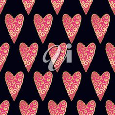 Seamless pattern with gold hearts on a black background. Contemporary style perfect for wedding, valentines day, save the date, birthday invitation. Vector illustration #2666606 | Clipart.com Valentines Day Clipart, Clipart Images, Heart Of Gold, Royalty Free Images, Black Backgrounds, Contemporary Style, Save The Date, Birthday Invitations, Hearts