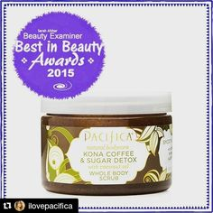 """Vegan Make- Up Share News Vegan skincare Giveaway alert!!!!! #Repost @ilovepacifica Today's Pacifica Best Of is the ultimate in Body Scrubs! Our Kona Coffee Sugar & Detox Scrub does it all! """"Whether..."""