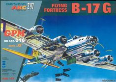 B-17G Flying Fortress (GPM 016), 1:33 paper model, maybe good for RC 1:16 conversion.