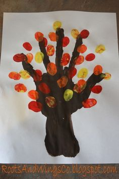 This is a fun take on finger painting and what students can do with them. They can also make a family tree with others fingerprints. This link takes you to other activities as well. finger painting tree : preschool activity using hand and fingerprints Fall Preschool Activities, Preschool Projects, Classroom Crafts, Art Activities, Preschool Crafts, Fall Crafts, Holiday Crafts, Toddler Crafts, Crafts For Kids