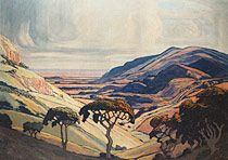 JACOB HENDRIK PIERNEEF (1886-1957)   Transvaal Landscape  oil on canvas