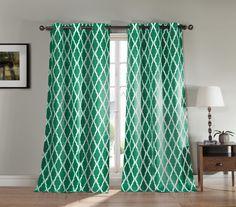 Duck River Textiles Kittatinny Heavy Blackout Grommet Pair Panel, Emerald