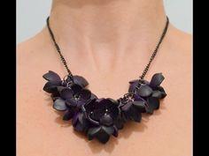 Collar de flores en arcilla polimérica - Polymer clay flower necklace - YouTube