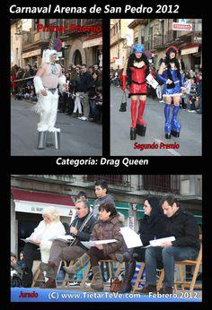 Carnaval de Adultos 2012 de Arenas de San Pedro. Drag Queens y Jurado.