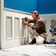 DIY How to Install Wainscoting…step-by-step instructions are given on this site.
