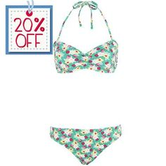 Make a modern-vintage statement with your swimwear in this beautiful bikini, finished in our lovely Brighton Daisy print with adjustable straps.