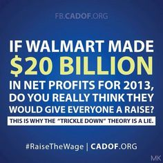 """""""Trickle Down Economics"""" us a JOKE! And it's a bad joke ... on us all."""