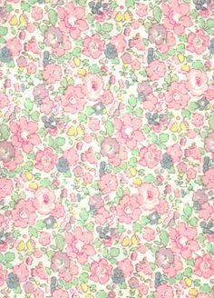 Liberty rose et violet - Papier peint Lutèce | IT | Pinterest ...
