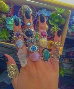 Hippie Jewelry, Cute Jewelry, Jewelry Accessories, Hippie Rings, Jewlery, Hippie Accessories, Funky Jewelry, Bohemian Rings, Chanel Jewelry