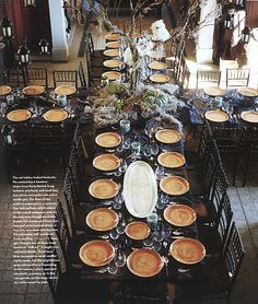 Big dinner party arrangement? On patio or living room? Makes me want to plan something for new years.