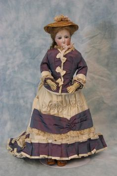 "12"" Princess Eugenie Circa 1866 Bru French Fashion Doll ""A"" Smallest Size Made 