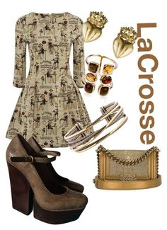 """""""Lacrosse"""" by rellenj ❤ liked on Polyvore featuring Alice + Olivia, David Yurman, Belk & Co. and Chanel"""