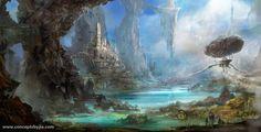 Environment Concept Art   Keywords: concept spaceship environment digital concept art concepts ...