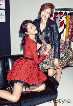 Son Dam Bi and Kang Seung Hyun - InStyle Magazine November Issue '15