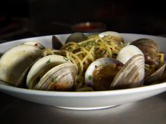Spaghetti alle Vongole Recipe courtesy Michele Calise, Mediterraneo Show: Diners, Drive-Ins and Dives Episode: East Coast Comfort