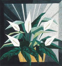 "PaperPiecedQuilting.com - Peace Lily - Foundation Paper Piecing Pattern - 30"" x 32"" Quilt, $12.50 (http://paperpiecedquilting.com/peace-lily-foundation-paper-piecing-pattern-30-x-32-quilt/)"