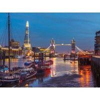 Tower Bridge by Night Christmas Cards