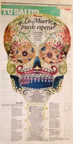 Award of Excellence goes to Noroeste Mazatlán in the Features Page Design category. #snd #snd34