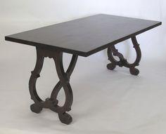 Scroll leg table - traditional - dining tables - nashville - Saddlecreek Design LLC