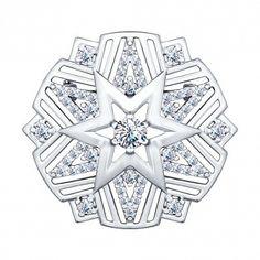 Купить брошь из серебра с фианитами 8 5 1 арт. 94040103 за 1 890 руб. в ювелирном магазине KOKO-LOKO.ru