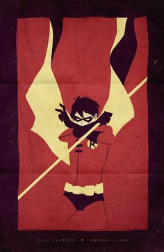 A piece to match the Batgirl poster.) I doodled both at the same time, to be a matching pair, but Robin looked better w/ a . Robin a la retro Superman, I Am Batman, Batman Robin, Robin Superhero, Comic Book Heroes, Comic Books Art, Comic Art, Nightwing, Batgirl