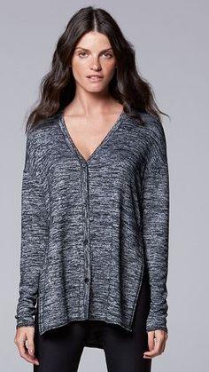 b632b235483 Simply Vera Vera Wang Marled Cardigan Sweater - Women s Cardigan Sweaters  For Women